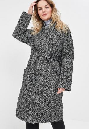 Пальто Симпатика. Цвет: серый