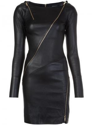 Платье с отделкой молниями Jitrois. Цвет: чёрный