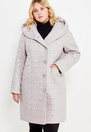Куртка утепленная Brillare. Цвет: бежевый
