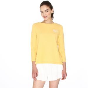 Свитшот с длинными рукавами и вышивкой ракетки PEPALOVES. Цвет: желтый