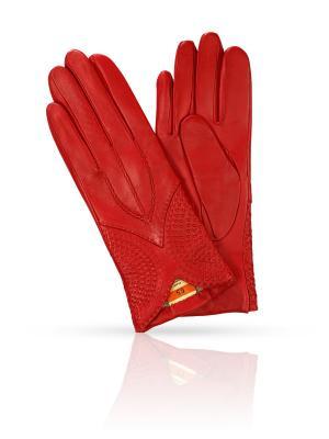 Перчатки MICHEL KATANA`. Цвет: красный