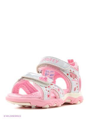 Сандалии Котофей. Цвет: бледно-розовый, кремовый, розовый