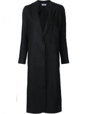 Slit back duster coat Nomia. Цвет: чёрный