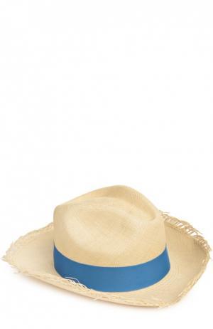 Шляпа пляжная Artesano. Цвет: голубой