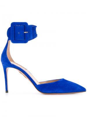 Туфли-лодочки Casablanca Aquazzura. Цвет: синий