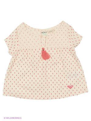 Блузка ROXY. Цвет: кремовый