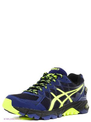 Кроссовки Gel-Fujitrabuco 4 G-Tx ASICS. Цвет: синий, салатовый, черный