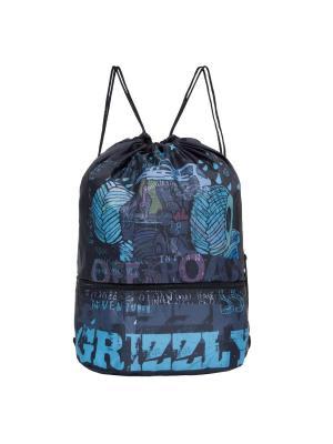 Мешок Grizzly. Цвет: бирюзовый, черный