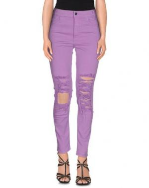 Джинсовые брюки ARIES. Цвет: розовато-лиловый