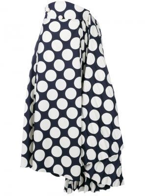 Расклешенная юбка в горох A.W.A.K.E.. Цвет: синий