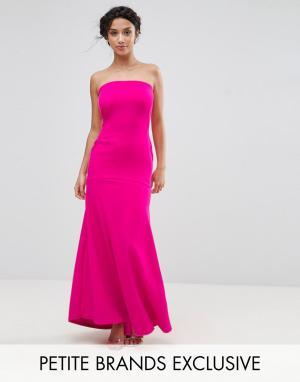 John Zack Petite Платье макси бандо. Цвет: розовый
