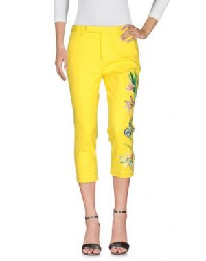Джинсовые брюки FEMME by MICHELE ROSSI. Цвет: желтый