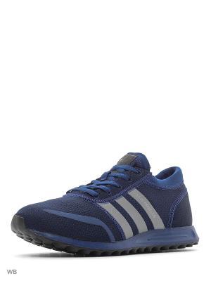 Кроссовки LOS ANGELES  MYSBLU/FTWWHT/CBLACK Adidas. Цвет: синий, белый