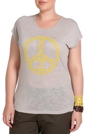 Блуза SARAH KERN. Цвет: серо-коричневый