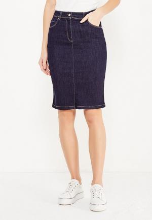 Юбка джинсовая Armani Jeans. Цвет: синий