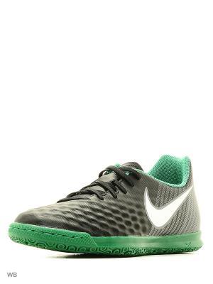 Кеды для зала MAGISTAX OLA II IC Nike. Цвет: черный, белый, серый
