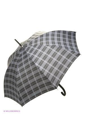 Зонт Isotoner. Цвет: серый, черный