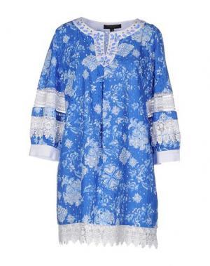 Короткое платье CHIARA D'ESTE. Цвет: синий