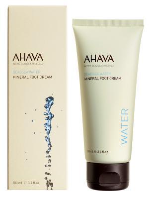 Крем для ног минеральный AHAVA. Цвет: кремовый