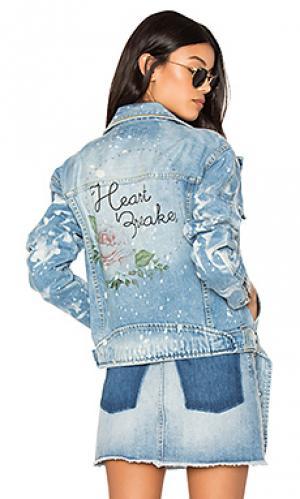 Мото куртка heart breaker The Laundry Room. Цвет: синий