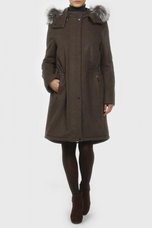 Пальто Izeta. Цвет: коричневый