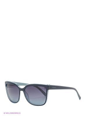 Солнцезащитные очки Polaroid. Цвет: голубой, синий