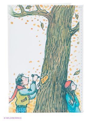 Обложка для паспорта Признание в любви Mitya Veselkov. Цвет: белый, зеленый
