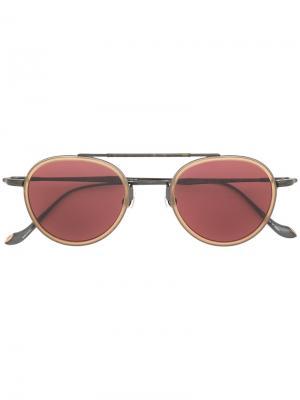 Солнцезащитные очки с двойной планкой Matsuda. Цвет: серый