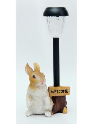 Садовый светильник Кролик Magic Home. Цвет: хаки, серебристый, бледно-розовый