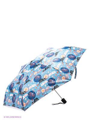 Зонт Labbra. Цвет: голубой, белый, синий