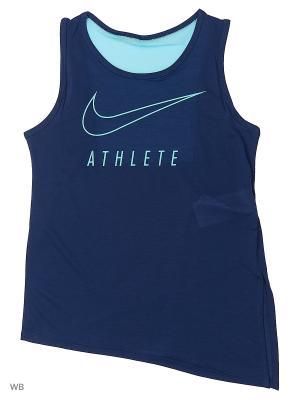 Топ G NK TANK SIDE TIE GFX Nike. Цвет: синий