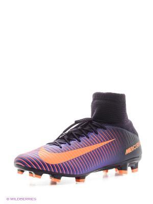 Бутсы MERCURIAL VELOCE III DF FG Nike. Цвет: фиолетовый