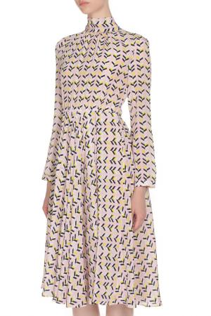 Приталенное платье с длинными рукавами Marcobologna. Цвет: цветной