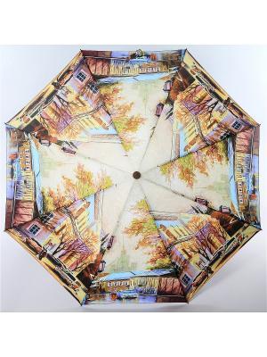 Зонт Magic Rain. Цвет: серо-коричневый, горчичный