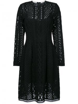 Полупрозрачное платье с длинными рукавами Ermanno Scervino. Цвет: чёрный