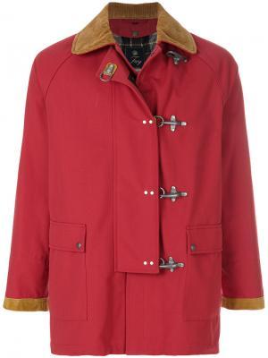 Пальто с контрастным воротником Fay. Цвет: красный