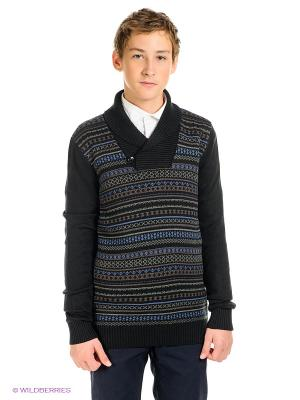 Пуловер SELA. Цвет: черный, коричневый, синий