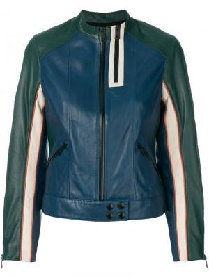 Куртка Three color Look Deluxe Zadig & Voltaire. Цвет: синий