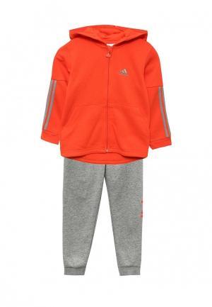 Костюм спортивный adidas Performance. Цвет: оранжевый, серый
