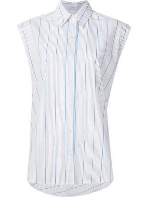 Рубашка Striped Sleeveless Lace Back Tome. Цвет: белый