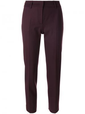 Однотонные брюки строгого кроя Piazza Sempione. Цвет: розовый и фиолетовый