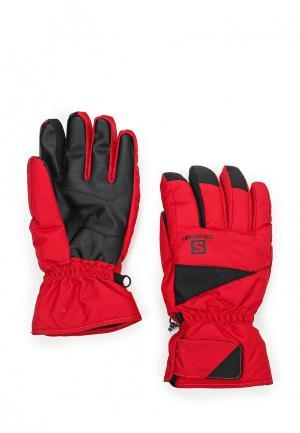 Перчатки горнолыжные Salomon. Цвет: красный