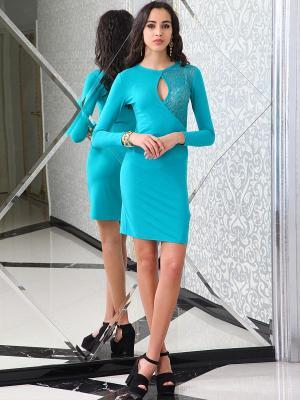 Платье Lussotico. Цвет: бирюзовый