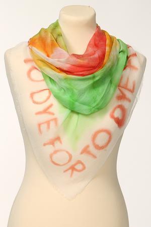 Платок Moschino. Цвет: белый, желтый, зеленый, красны