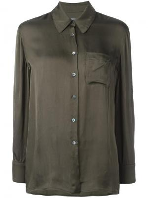 Рубашка с нагрудным карманом Raquel Allegra. Цвет: зелёный