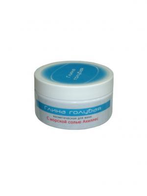 Глина голубая косметическая для ванн  с морской солью ахиллес. Цвет: серый