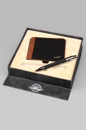 Набор: Портмоне, ручка Mr.Forsage. Цвет: коричневый