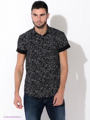 Рубашка New Look. Цвет: черный, белый