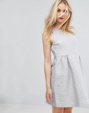 Paul & Joe Жаккардовое платье Sister. Цвет: фиолетовый