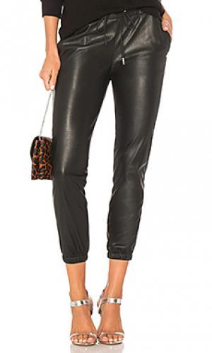 Брюки-джогеры scarlett leather n:PHILANTHROPY. Цвет: черный